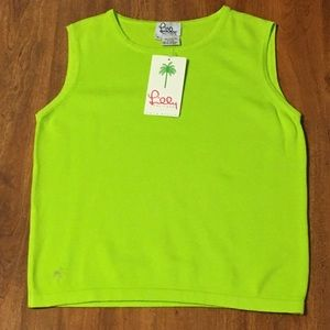 NWT Lilly Pulitzer Trudy Sleeveless Knit Top Green